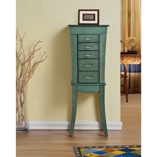 Paris Sear Green Jewelry Armoire Cabinet Organizer