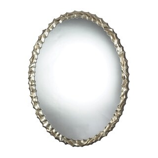 "Emery Hill Oval Mirror - silver leaf - 28""w x 5""d x 35""h"