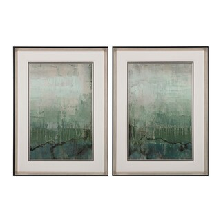 Emerald Sky I, II' Limited Edition Print On Fine Art Paper Under Glass Wall Art