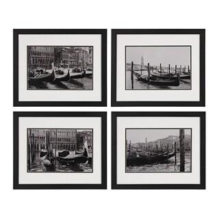 Waterways Of Venice I, II, III, IV' Print Under Glass Wall Art