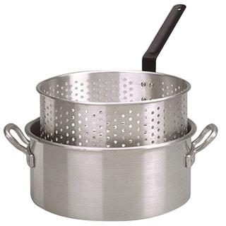 King Kooker Alum Fry Pan/Basket, 2 Helper Handle, 10 Qt.
