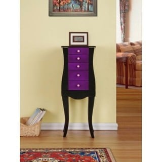 Bella Purple Jewelry Armoire Cabinet Organizer