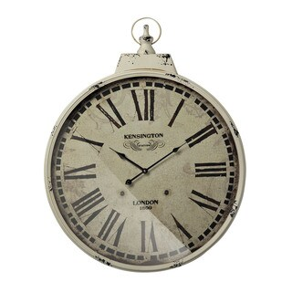 Kensington Station Clock With Antique Cream Metal Frame