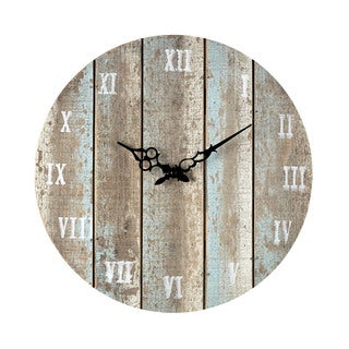 Wooden Roman Numeral Outdoor Wall Clock.