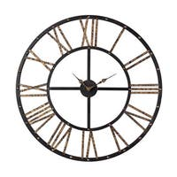 "Sterling Metal Framed Roman Numeral Open Back Wall Clock - 28""w x 1""d x 28""h"
