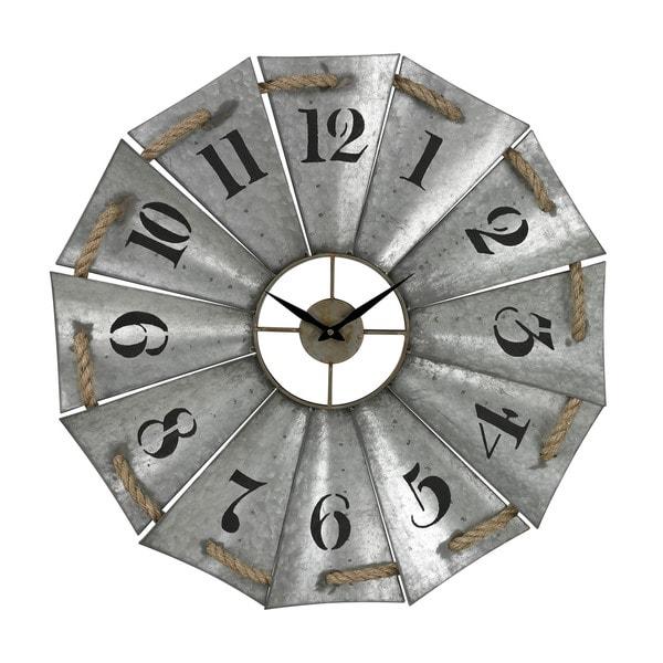 Aluminum and Rope Wall Clock