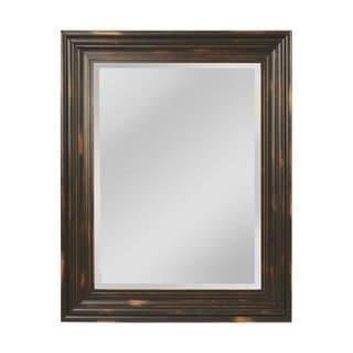 Large Aged Wood Mirror