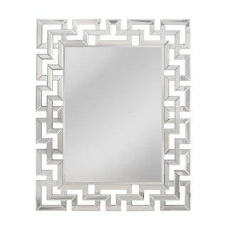 "Greek Key Mirror - Silver - 47""h x 1""d x 37""w"