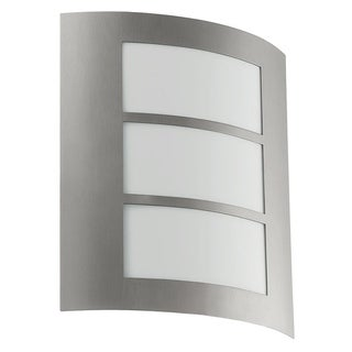 City Stainless Steel Finish and Acrylic Glass Outdoor Wall Light