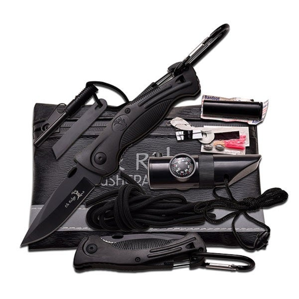 "Elk Ridge Black Survival Kit 6.75"" X 4.25"""
