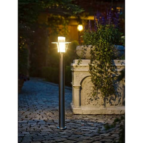 Belfast Stainless Steel Finish and Clear Glass Outdoor Post Light