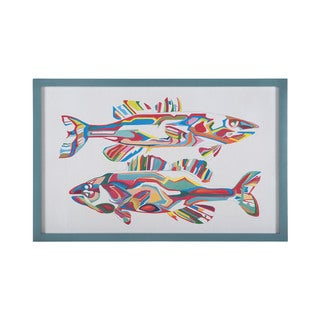 'Alpha Fish' Framed Canvas Art Print