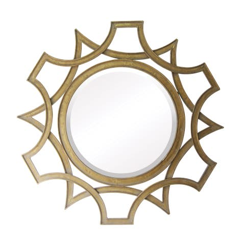 Amberley Beveled Wall Mirror - Antique Gold