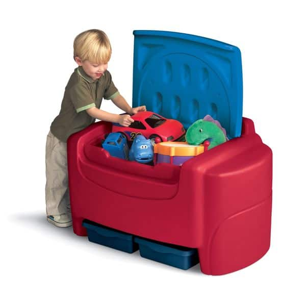 Outstanding Little Tikes Sort N Store Toy Chest Red Creativecarmelina Interior Chair Design Creativecarmelinacom