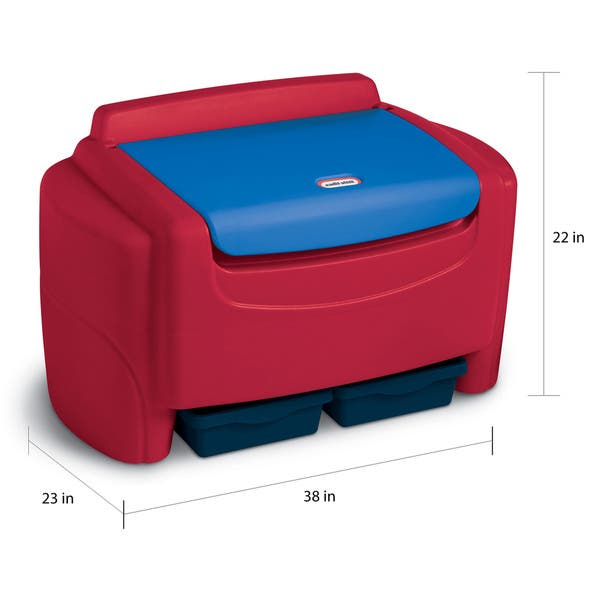 Excellent Little Tikes Sort N Store Toy Chest Red Creativecarmelina Interior Chair Design Creativecarmelinacom