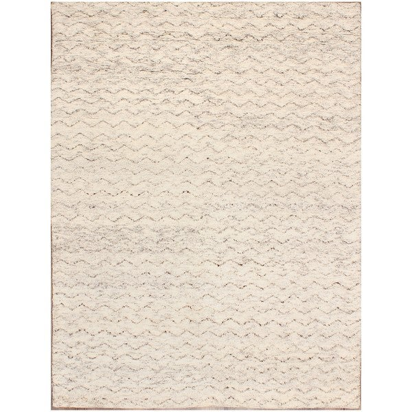 Shop ABC Accents Moroccan Beni Ourain Mina Ivory Wool Rug