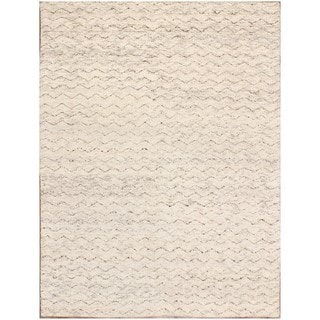 ABC Accents Moroccan Beni Ourain Mina Ivory Wool Rug (5' x 7')