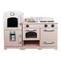 Teamson Kids White Pink 2 Piece Play Kitchen