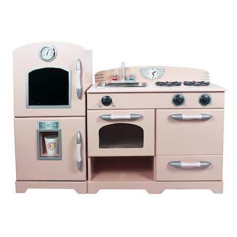 Teamson Kids - 2-piece Play Kitchen, Pink / White