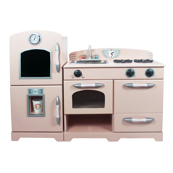 Shop Teamson Kids White/ Pink 2-piece Play Kitchen - On Sale ...