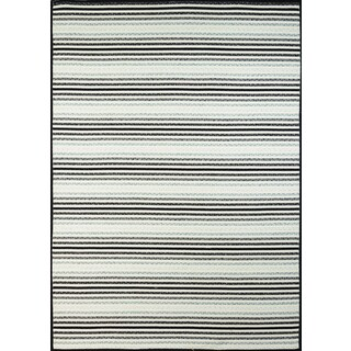 Half Moon Bay Black and White Multi-purpose Area Rug (7'6 x 9'6)