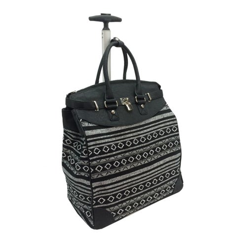 Rollies Aztec Rolling 14-inch Laptop Black Travel Tote