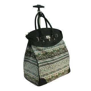 Rollies Aztec Rolling 14-inch Laptop Travel Tote Bag