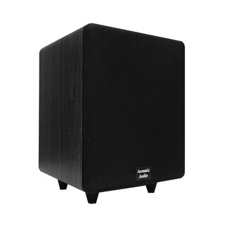 Acoustic Audio Black CS-PS65-B Front Firing Subwoofer