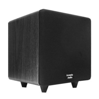 Acoustic Audio Black CS-PS8-B Front Firing Subwoofer
