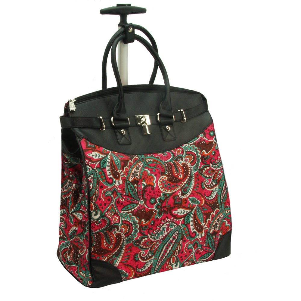 Rollies Paisley Rolling 14-inch Laptop Travel Tote Bag (B...