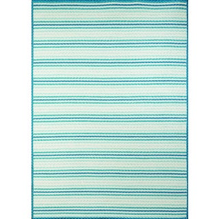 Half Moon Bay Seaside Blue Multi-purpose Rug (7'6 x 9'6)