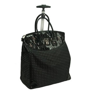 Rollies Classic Polka Dot Rolling 14-inch Laptop Travel Tote Bag (2 options available)
