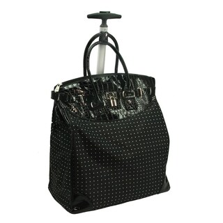 Rollies Classic Polka Dot Rolling 14-inch Laptop Travel Tote Bag