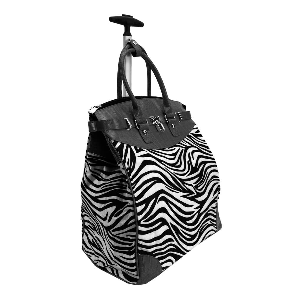 Rollies Classic Zebra Rolling 14-inch Laptop Travel Tote ...