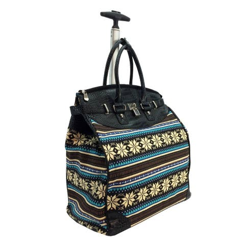 Rollies Aztec Graphic Print Rolling 14-inch Laptop Travel Tote