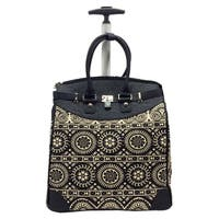 Rollies Aztec Black Rolling 14-inch Laptop Travel Tote