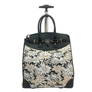 Rollies Daisy Floral Rolling 14-inch Laptop Travel Tote