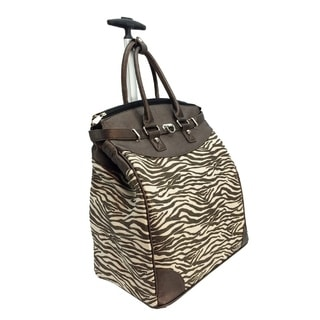 Rollies Metallic Zebra Rolling 14-inch Laptop Travel Tote