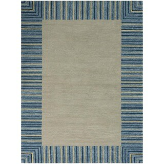 San Mateo Blue Stripe Multi-purpose Rug (7'6 x 9'6)