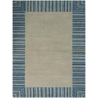 San Mateo Blue Stripe Multi-purpose Rug (7'6 x 9'6) - 7'6 x 9'6