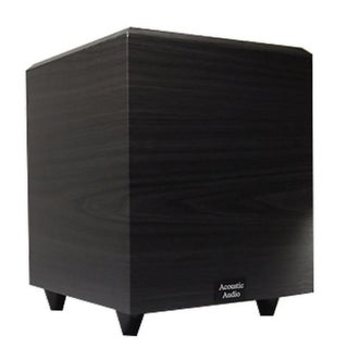 Acoustic Audio Black PSW-8 300 Watt 8-Inch Down Firing Powered Subwoofer