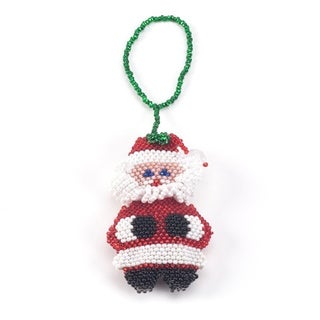 Beaded Santa Christmas Ornament