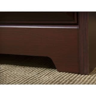 Bush Furniture Cabot L-Desk with Hutch and 5 Shelf Bookcase