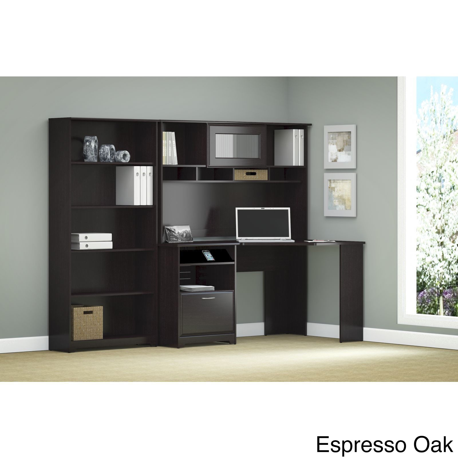 bookcase product zm telluride hutch traditional reddish bookcases wood hooker with black brown furniture