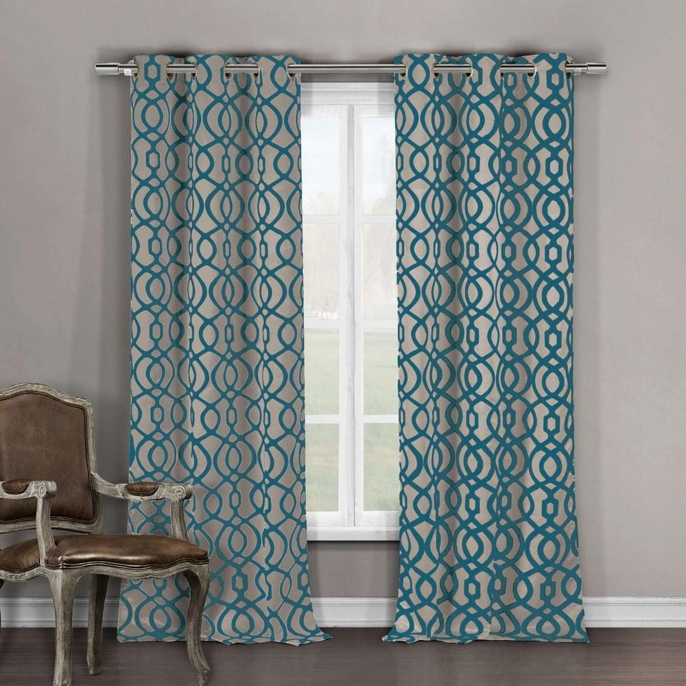 Shop Duck River Harris Grommet Top Blackout Curtain Panel Pair - 10811937