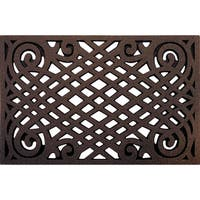 Celtic Lattice Coffee Rubber Outdoor Doormat