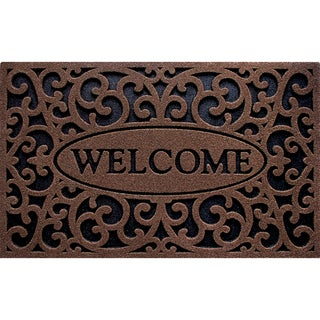 Outdoor Welcome Iron Brown Doormat (18 x 30)