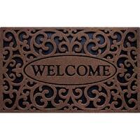 Outdoor Welcome Iron Brown Doormat (18 x 30)