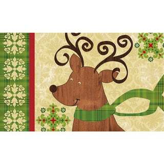Indoor/ Outdoor Modern Reindeer Doormat (18 x 30)