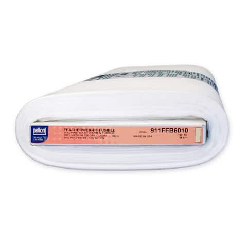 "Pellon 911FF Fusible Featherweight Interfacing White (60"" x 10 yd)"